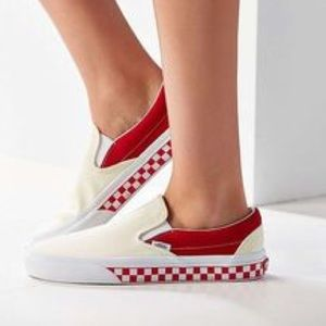 ca5a66abee Vans Shoes - UO x VANS COLLAB Red Colorblocked Slip-on 9